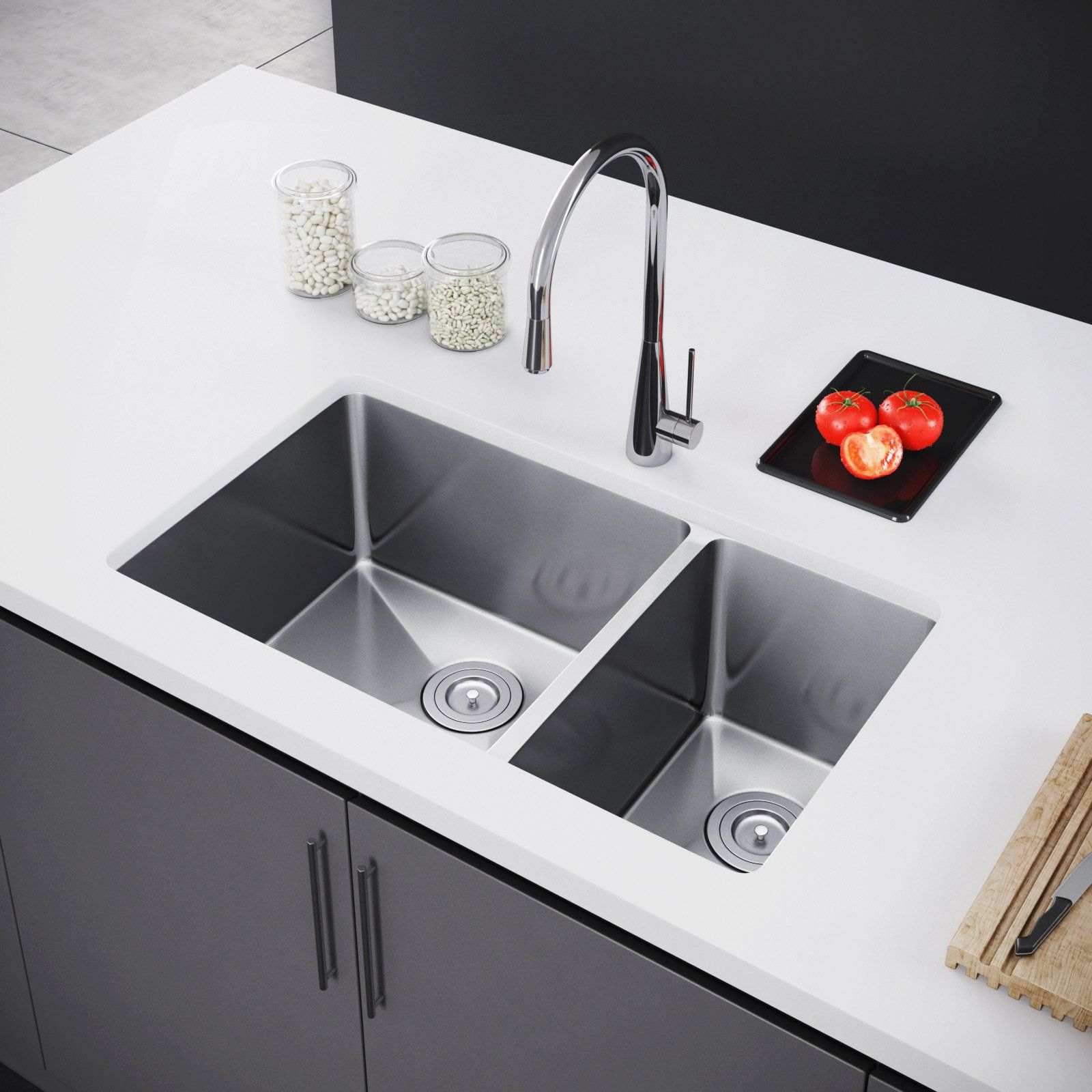 Exclusive Heritage Double Bowl Undermount Ksh 3118 D7 Kitchen Sink