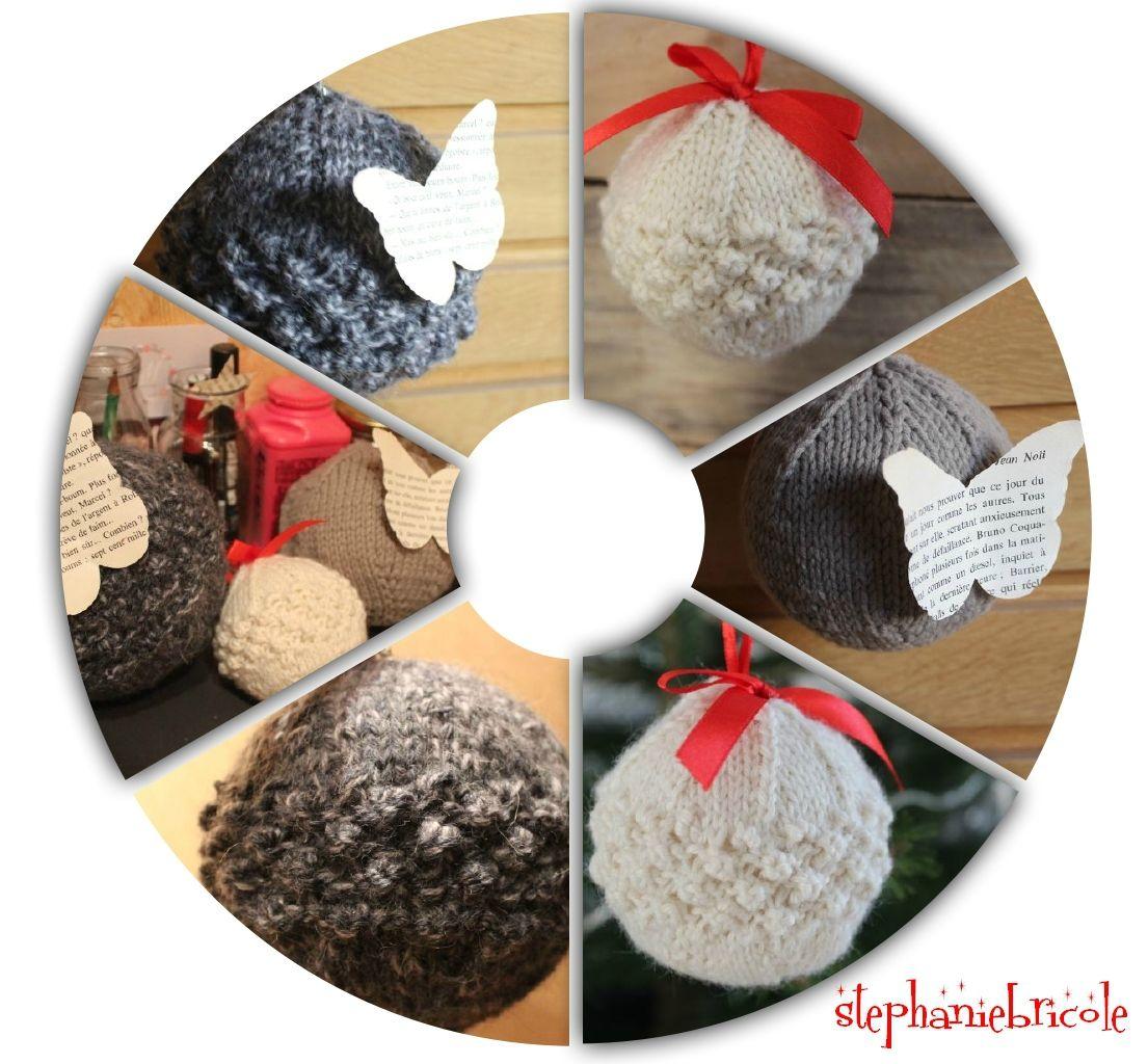 Comment tricoter une boule de Noël pour le sapin ?   Stéphanie