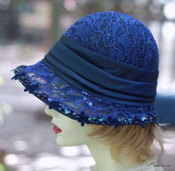 a05e97bc 20's Cloche Hat Evening Wedding Formal Fancy Dressy by GailsHats ...