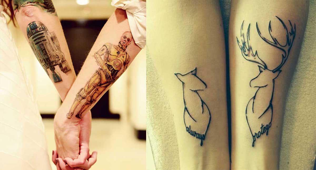 15 extraordinarios tatuajes para parejas que te encantarán Tatoos - tatuajes para parejas