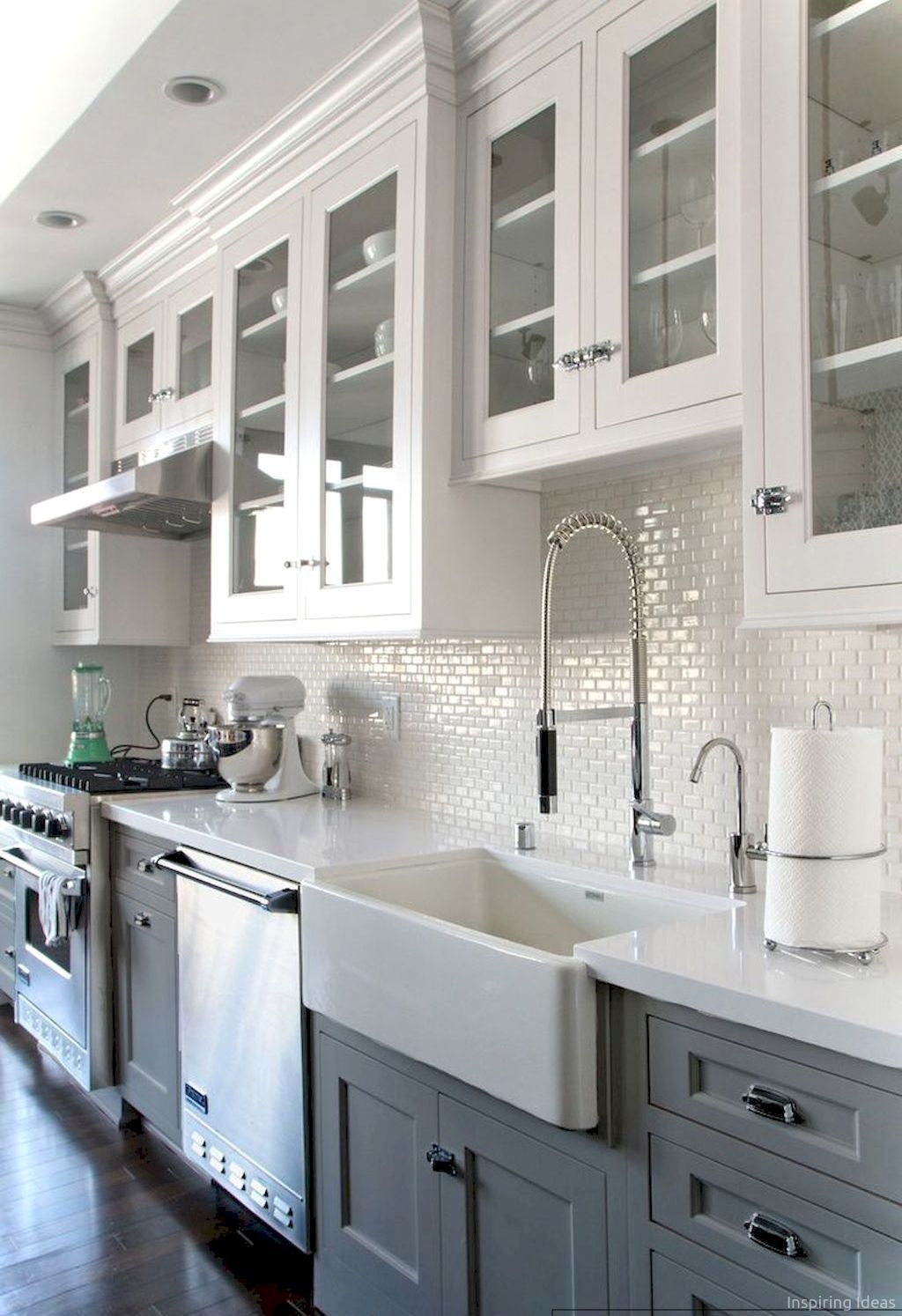 Beautiful Farmhouse Kitchen Cabinet Makeover Ideas 83 Kitchen Backsplash Designs White Kitchen Design Kitchen Design