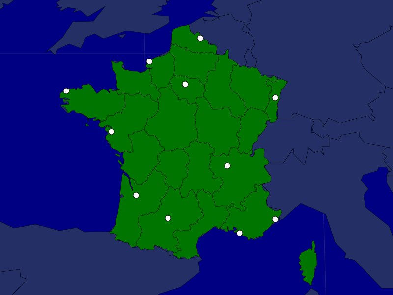 France Map Quiz.France Cities Map Quiz Game France Pinterest French Class
