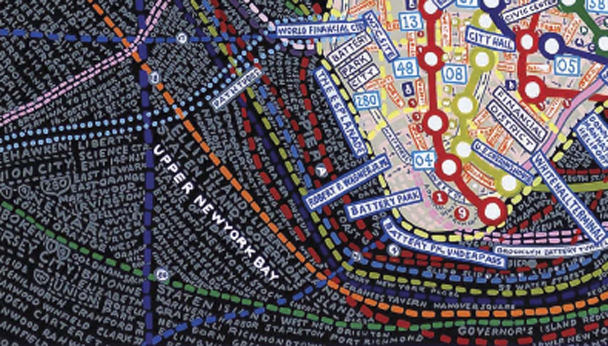 Paula Scher part of her Maps