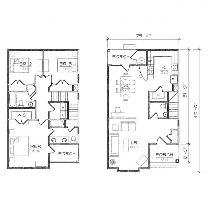 Small House Plans With Garage Attached - Duplex Plans With Garage ...