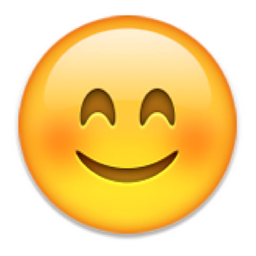 Smiling Face With Smiling Eyes Emoji U 1f60a U E056 Eyes Emoji Smiley Free Emoji