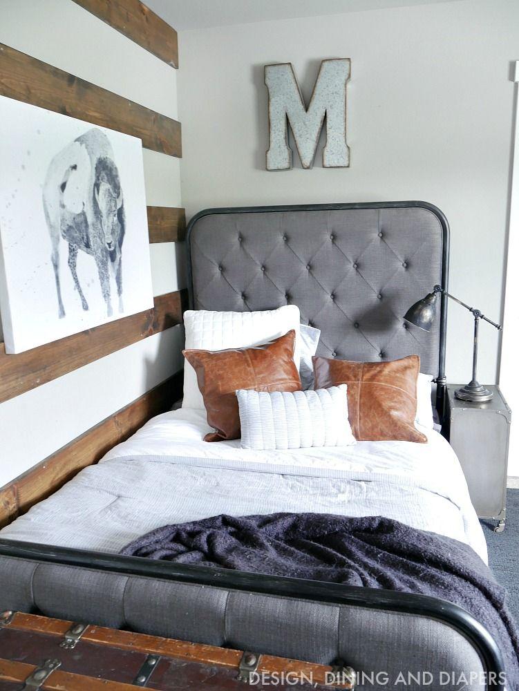 Rustic Modern Boy Room | Modern boys rooms, Kids room ...
