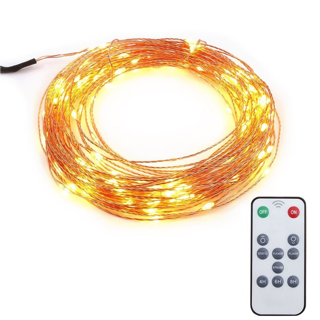 Updated Version]TopEs Dimmable Led String Lights, Waterproof Cooper ...