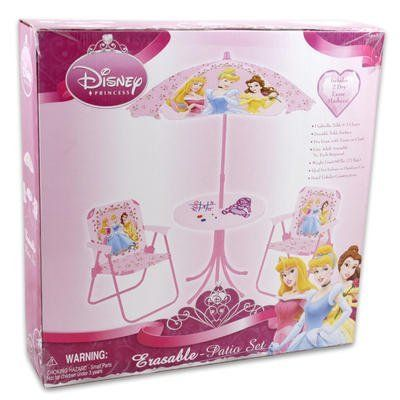 Disney Princess 4pc Patio Set With Chairs Table Umbrella By 66 77