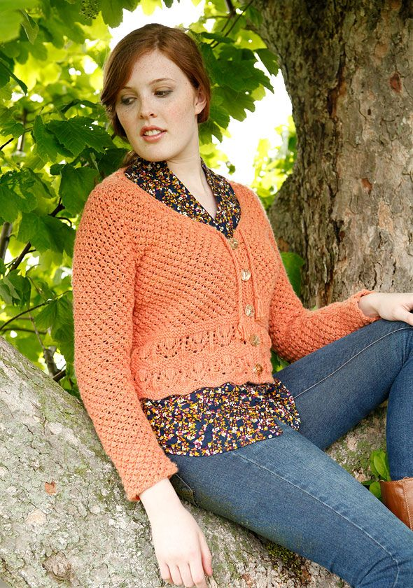 Free Knitting Pattern Womens Cardigans Sassafras Lace Cropped