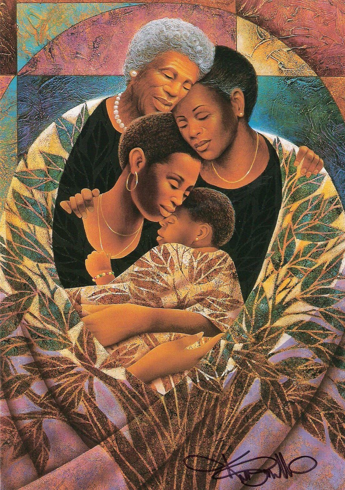 Keith Mallett 1948 Art Black Love