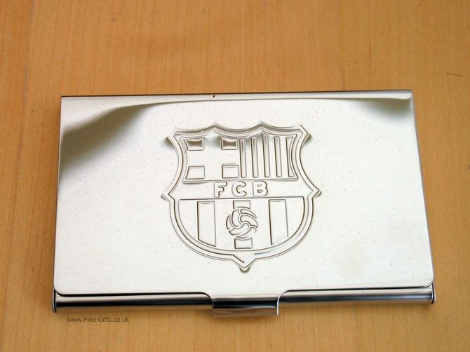 Business card holder fc barcelona metal business card holder for business card holder fc barcelona metal business card holder for men finegifts officialfootballclubproducts colourmoves