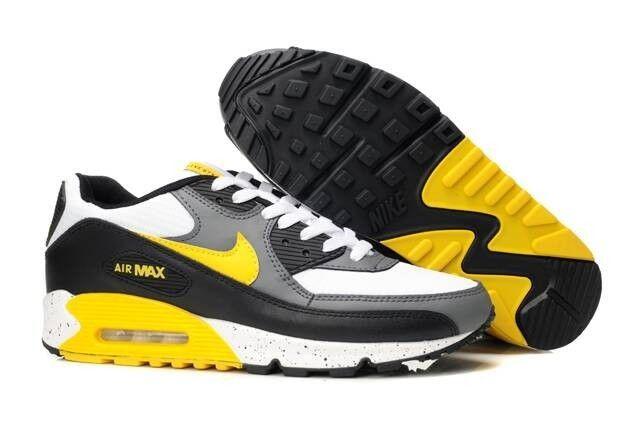 wholesale dealer bf8d9 7fae3 Nike Air Max 90-2 Chaussures Grise Blanche Noir Jaune Homme France Pas Cher