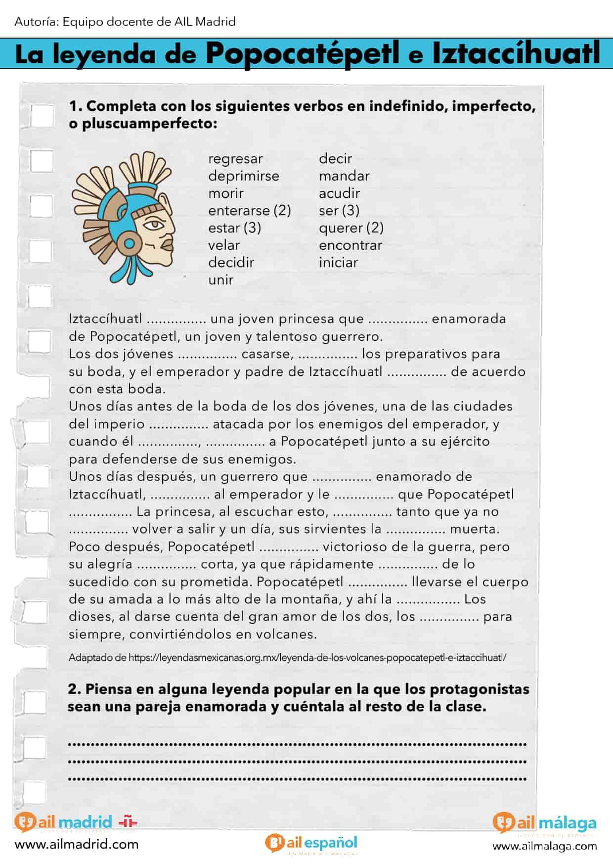 Texto Y Actividad Ele De Contraste De Pasados De Nivel B1 En Español Recursos Para Profesores Recursos Lingüísticos Actividades