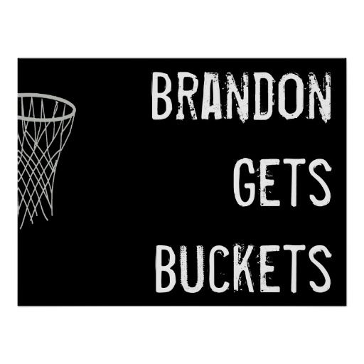 Custom black and white basketball poster great gift idea for basketball players and fans