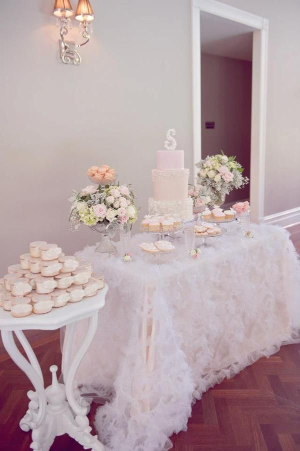 Baptism table decorations on pinterest baptism for Baby girl baptism decoration ideas