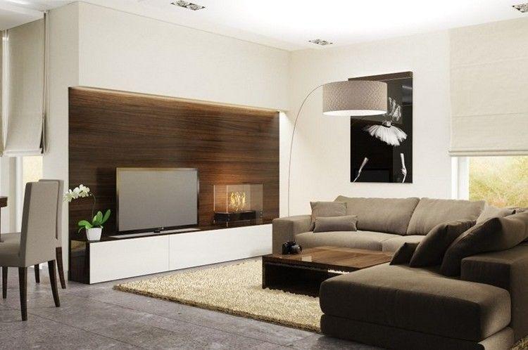 wandgestaltung-wohnzimmer-holz-walnuss-wandpaneele-led-leiste-weisse
