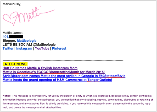 What Every Blogger Should Have in Their Email Signature ...