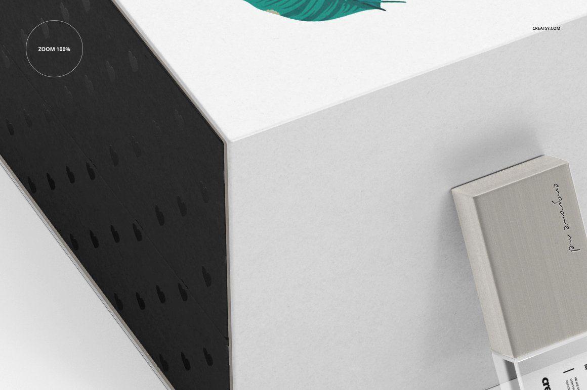 Download Acrylic Usb Drive Slide Box Mockup Box Mockup Slide Box Mockup