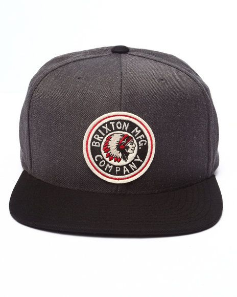 9849e86d67fe7 Charcoal grey body, Black brim. Brixton Rival snap One of my favorite hats  that I own thanks to my gf