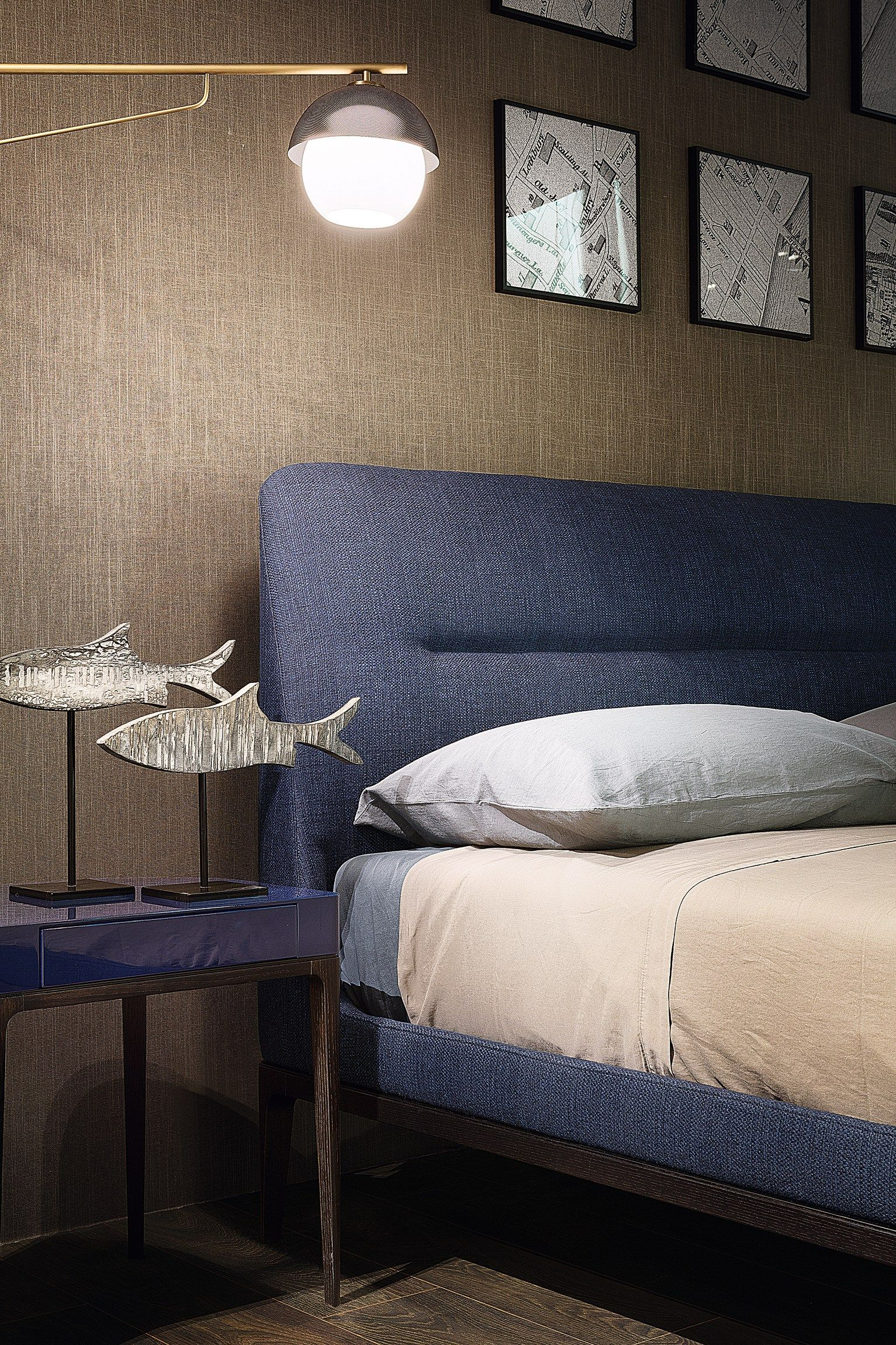 Camere Da Letto Lema.Fabric Double Bed With Upholstered Headboard Victoriano By Lema
