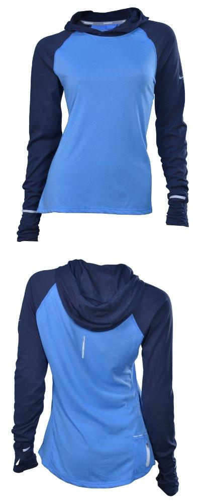 d5c32235 NIKE Women's Dri-Fit Soft Hand Running Hoodie-Sky Blue - NIKE Women's  Windfly