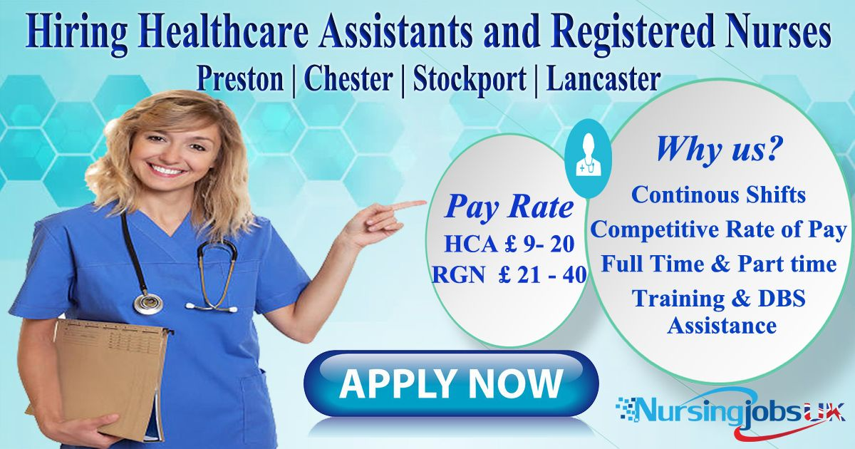 Agency job for rgns and hcas in chester stockport