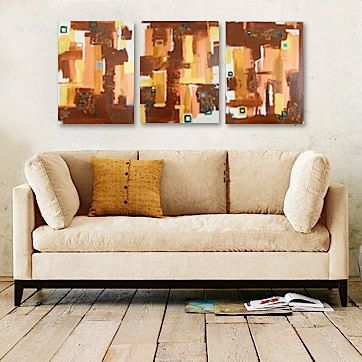 """TAPESTRY original contemporary art - each triptych painting is 16"""" x 20"""" #art #fine_art #home_decor"""