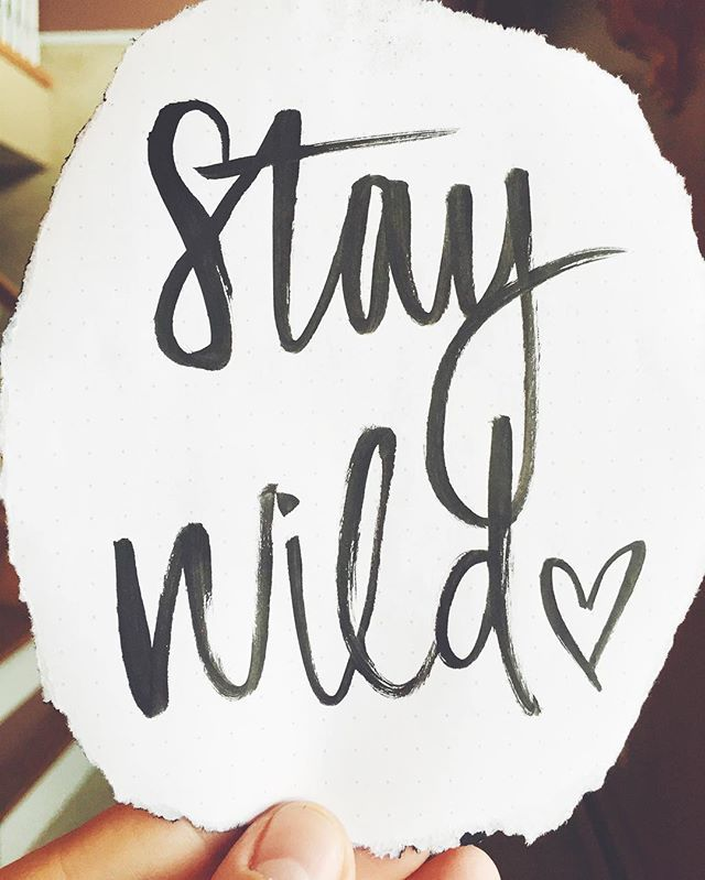 "Photo of Carte Blanche Calligraphy on Instagram: ""l i v e // Stay wild moon child 🌘✌🏻 Don't forget to get in on the giveaway this weekend! 💕 The winner will receive a free custom 5×7 piece…"""