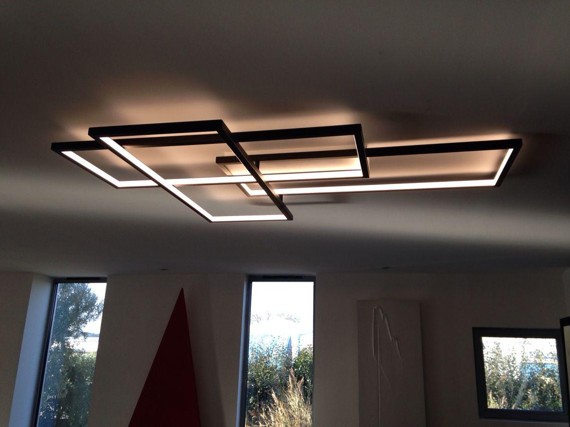 Trio ceiling led lighting cinier fr plafonnier minimaliste art