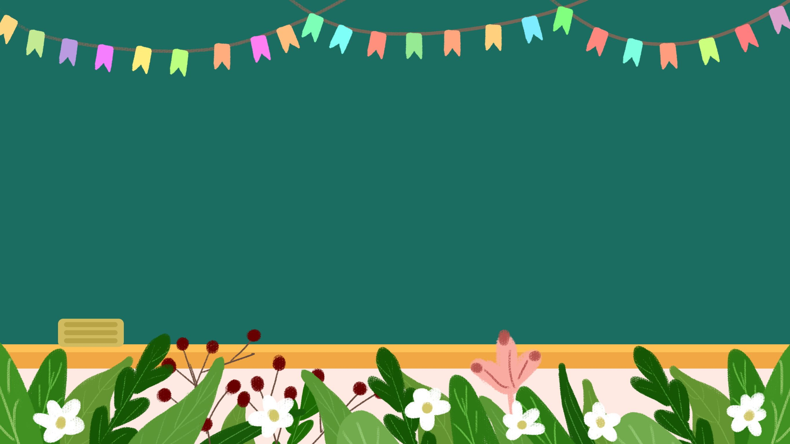 Fresh Bunting Blackboard Teachers Day Background Material Teacher Wallpaper Teachers Day Hello Teacher
