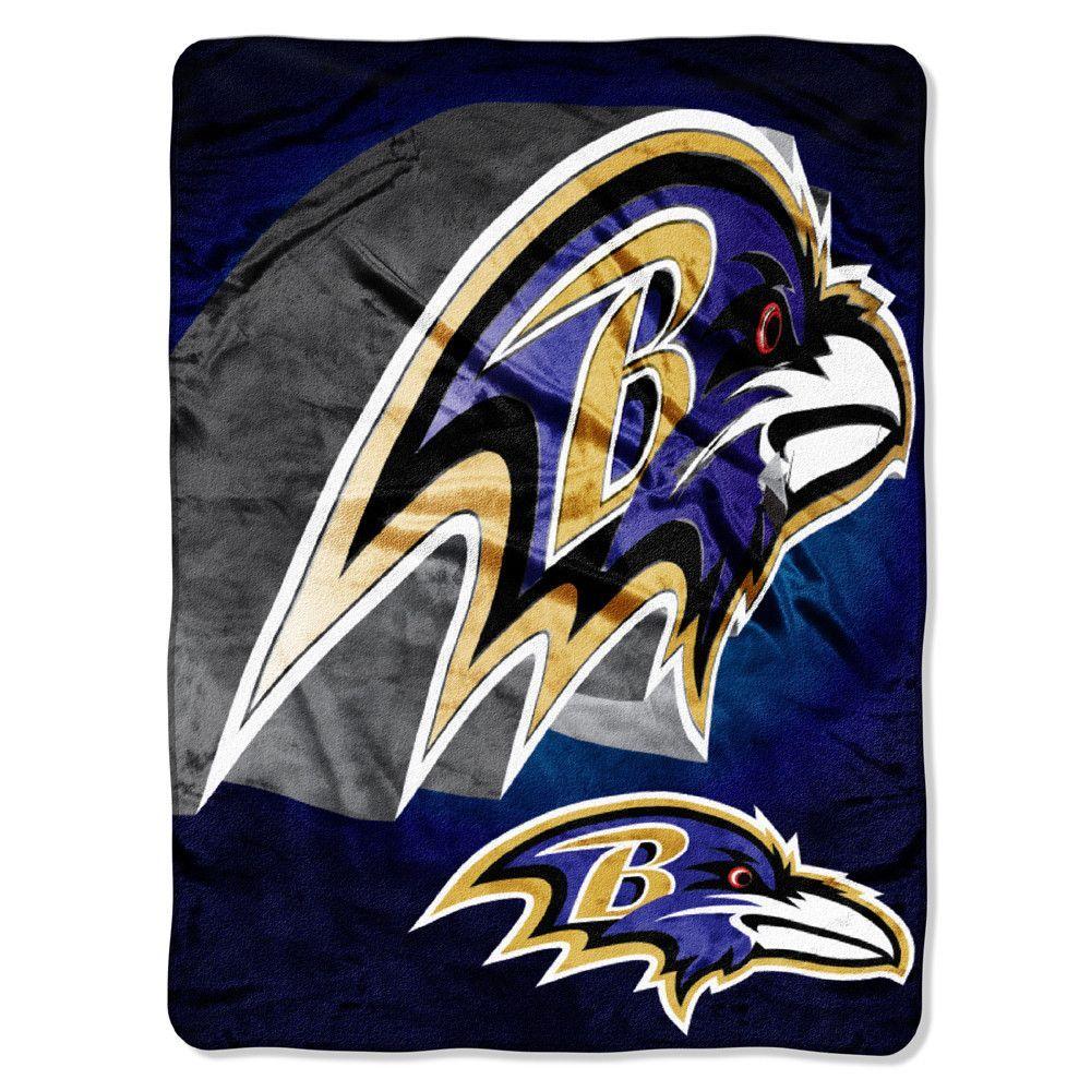 Baltimore Ravens NFL Micro Raschel Blanket (Bevel Series) (80x60)