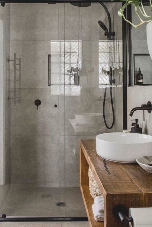 The Concept Of Industrial Home Design Is Very Much In Nowadays Such A Design Not Only Makes Your Home Look Attractive But Also Enhanc Em 2020 Casas Decoracao Banheiro