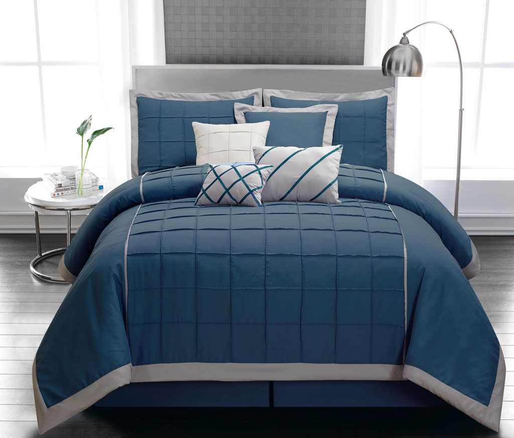 blue king size comforter sets