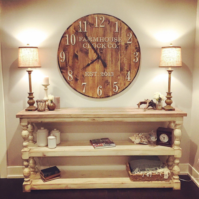 Farmhouse Clock Co Extra Large Round Wall Clock Farmhouse Clocks Farmhouse Wall Clocks Chic Wall Clock