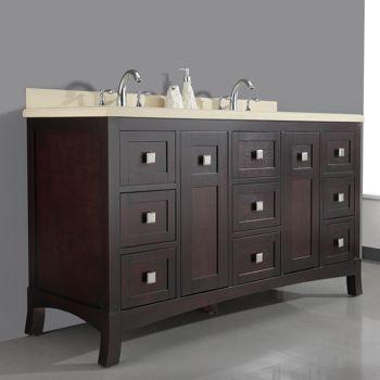 "Bathroom Cabinets Costco new waves ella 60"" double sink vanity from costco $1300 | lawrence"