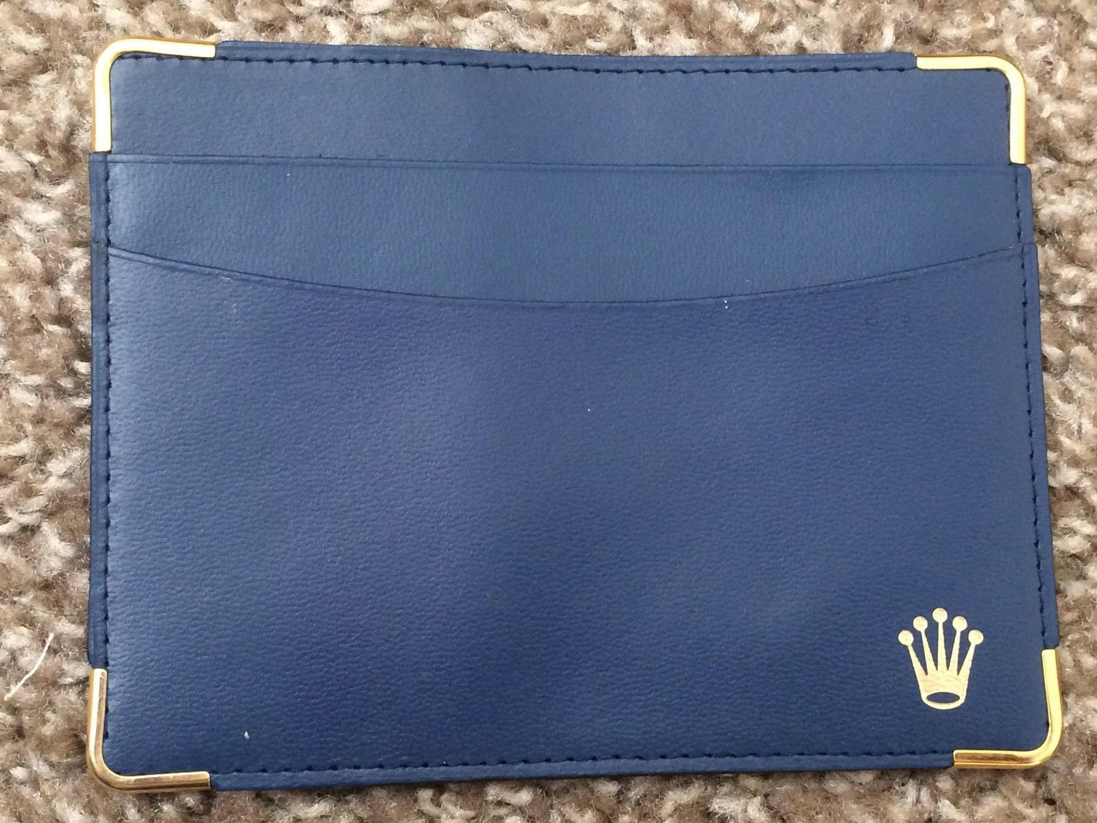 New Mens Ladies Rolex Leather Id Business Card Credit Card Holder Wallet Case Credit Card Holder Wallet Card Holder Wallet Credit Card Holder