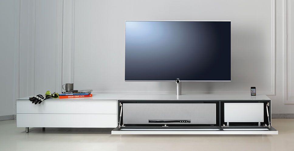 Tv möbel wand  Spectral Scala TV-Möbel weiß/grau offen bei Funkhaus Küchenmeister ...