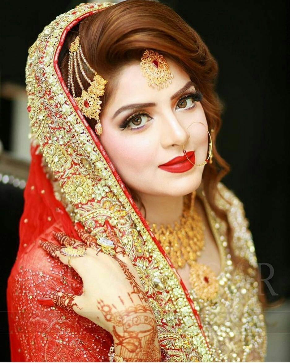 bride hair style and jewllry | bridal | pakistani bridal