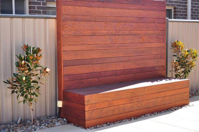 Kwila merbau garden or courtyard bench seat storage box for Garden decking gumtree