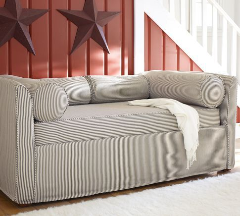 Lewis Daybed Amp Slipcover With Trundle Pottery Barn I