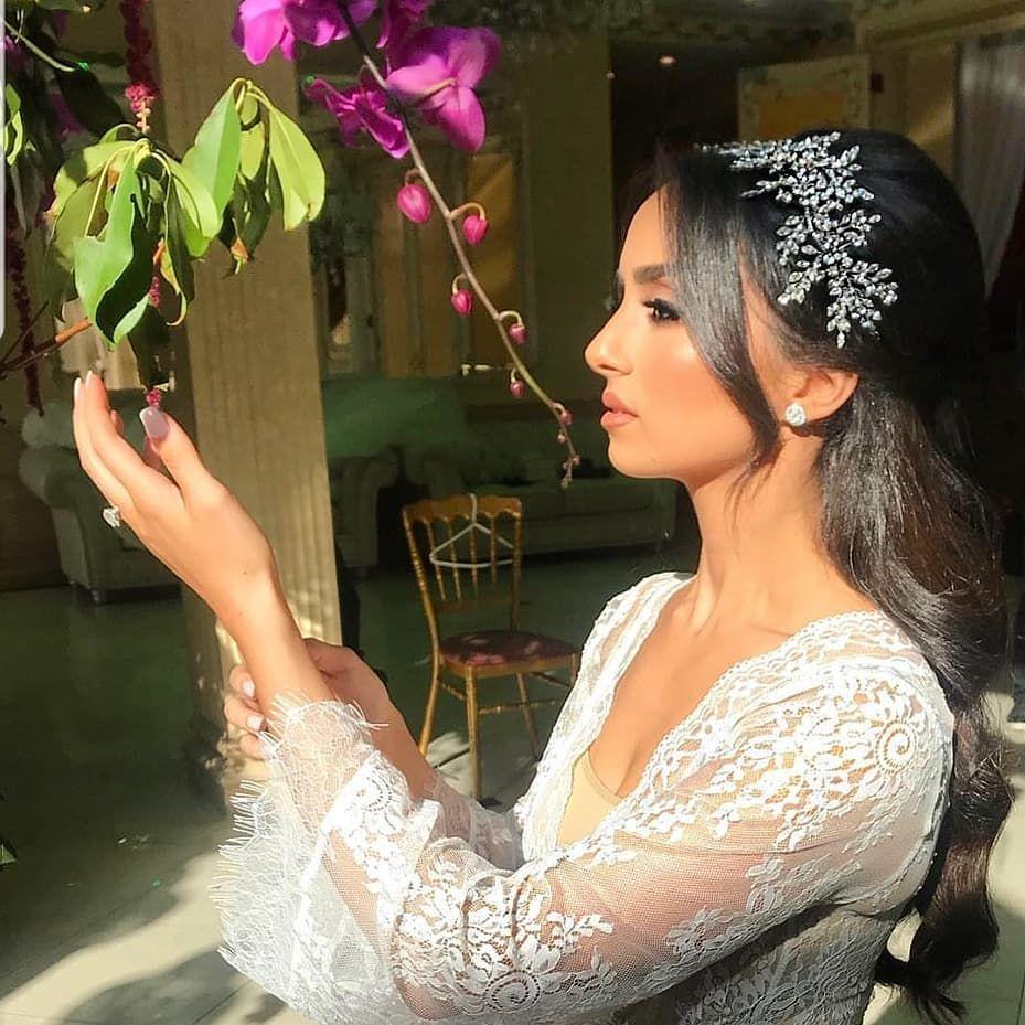 Breathtaking bride Revital! Crystal headpiece by Bridal Styles Boutique, makeup by Makeup by Rada, hair by Senada K. #bridalheadpieces