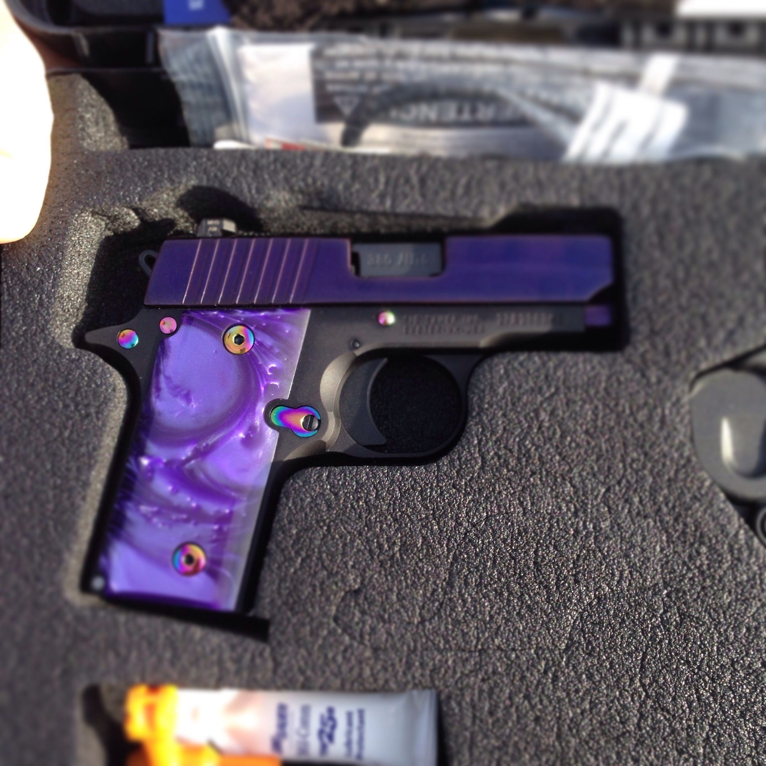 My Purple Pearl Sig Sauer P238 380 Yes I Really Own