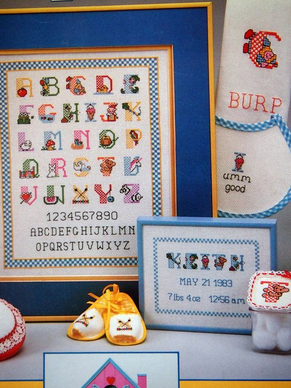 Baby Alphabet By Anne Van Wagner Young Vintage by NeedANeedle