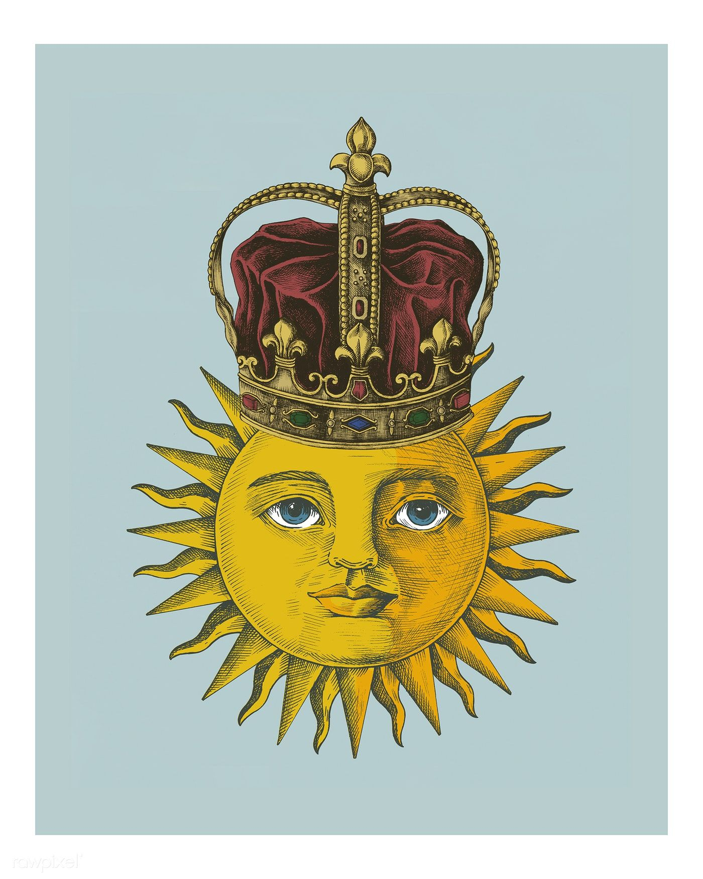 Retro Vintage sun — Stock Vector © 4zeva #69623627 |Vintage Sun Illustration