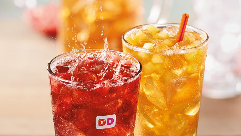 Dunkin Donuts Fruited Iced Teas Drinks In 2019 Dunkin Donuts