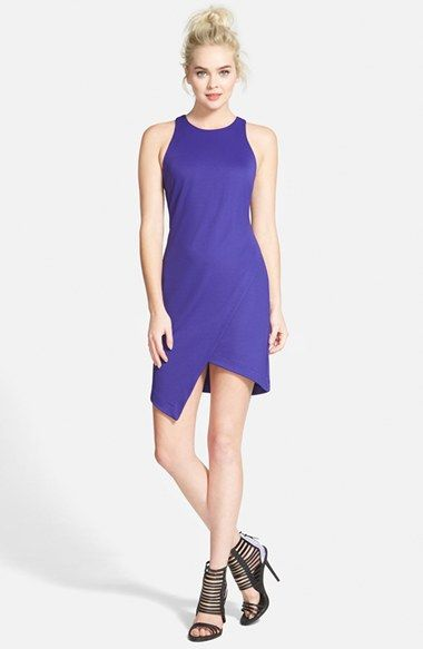 7b03f885ed Free shipping and returns on Leith Crepe Tank Dress at Nordstrom.com. A  sleeveless body-con dress cut from stretch crepe is styled with a keyhole  racerback ...