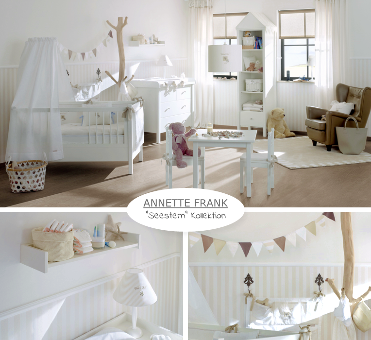 annette frank babyzimmer 39 seestern 39 babyzimmer pinterest baby kinderzimmer und kinder. Black Bedroom Furniture Sets. Home Design Ideas