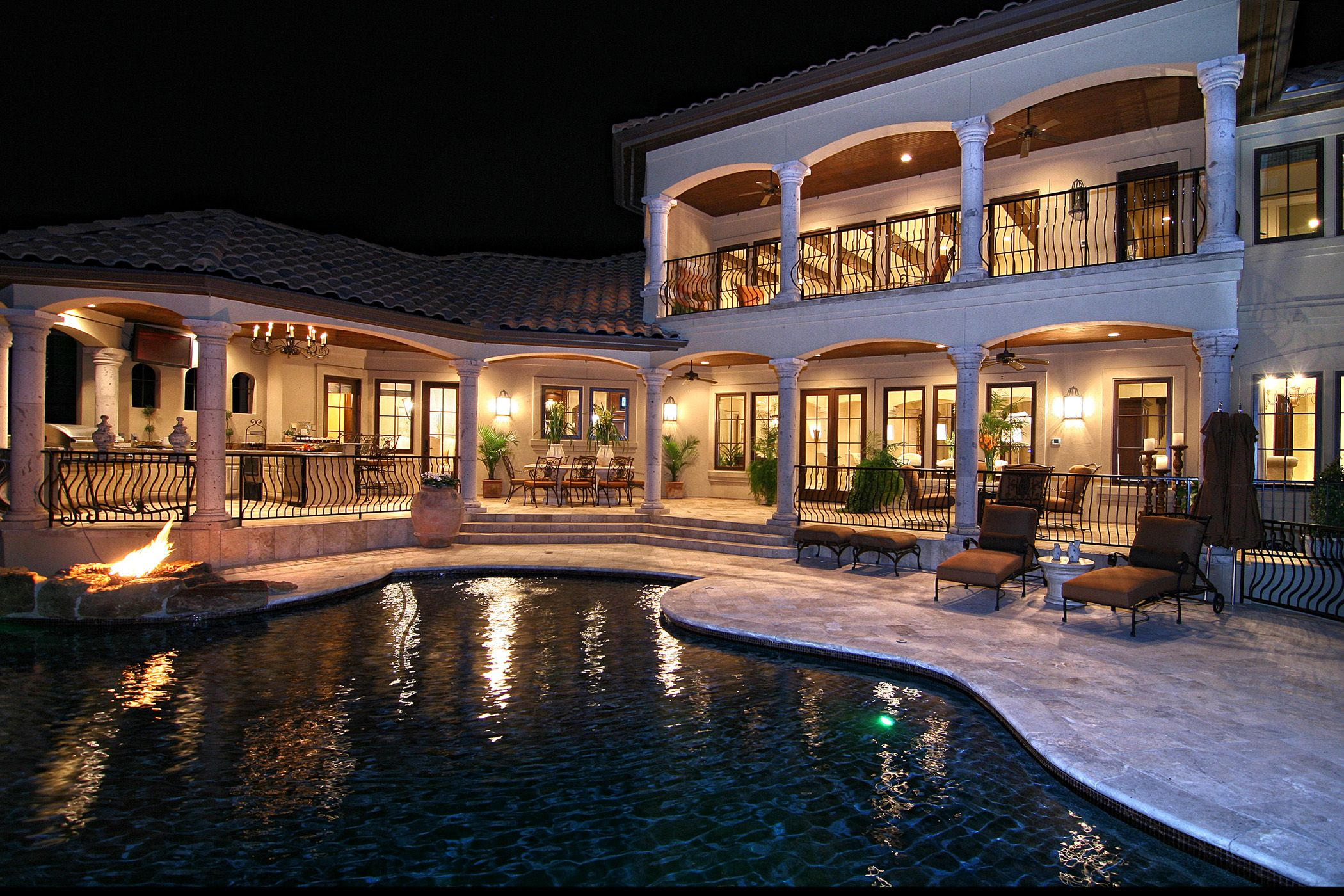 Luxury homes exterior - Tuscan Inspired Horseshoe Bay Lakeside Pool By Zbranek Holt Custom Homes Horseshoe Bay Luxury