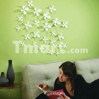 3d Diy Flower Wall Stickers Home Art Decor Pop Up Mixed Colors