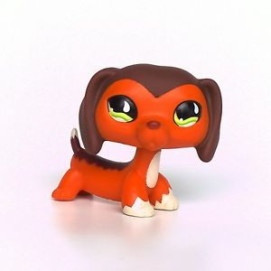 lps littlest petshop chien dog teckel jouet animal 675. Black Bedroom Furniture Sets. Home Design Ideas